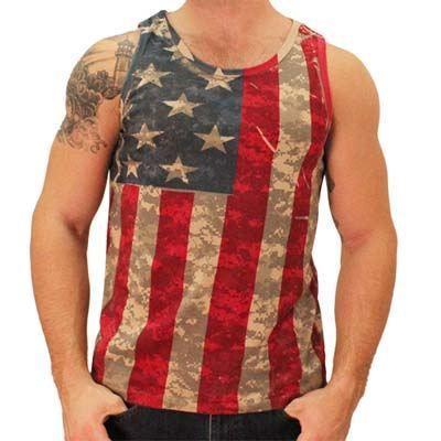 Mens American Flag Camo Tank Top American Flag Tank Top American Flag Tank Camo Tank Tops