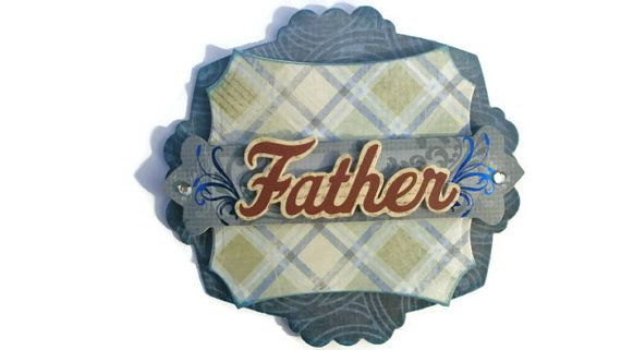 father's day father dad scrapbook embellishment by itsmemanon, $1.95