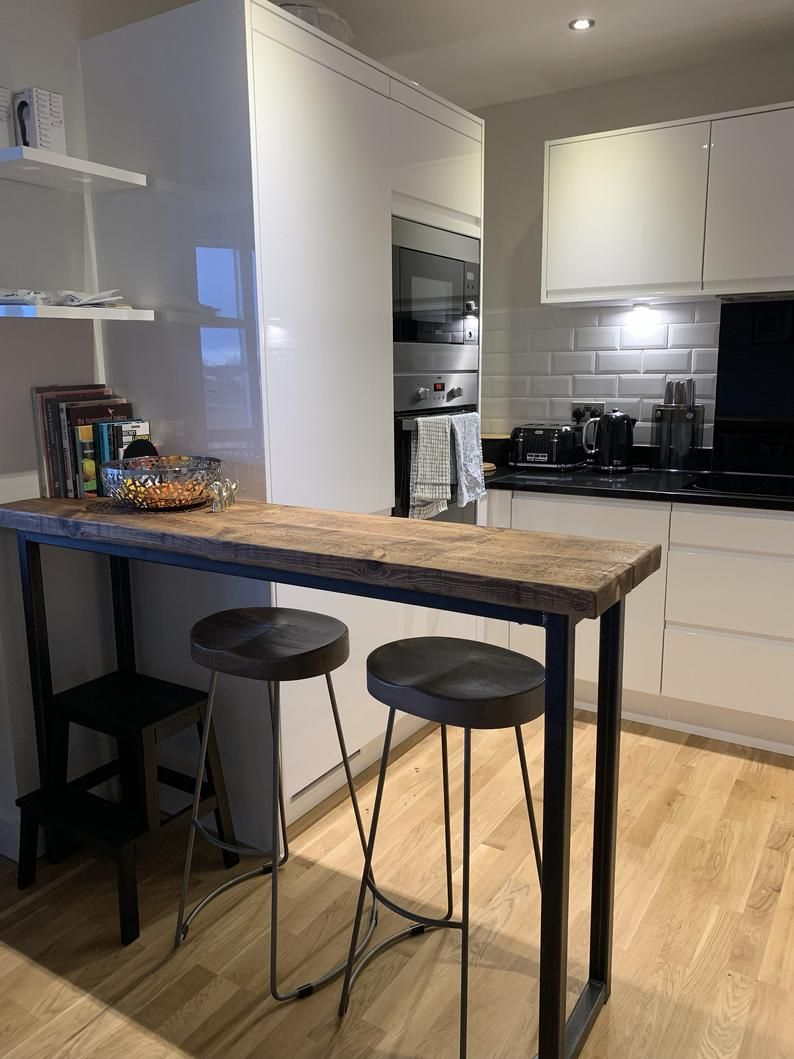 Industrial Style Breakfast Counter   Kitchen design small ...