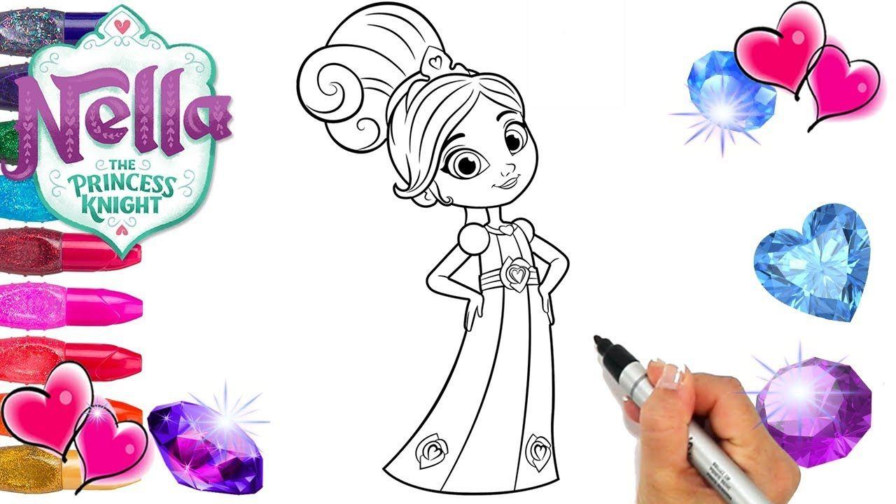 Nella Princess Knight Beautiful Dress Coloring Page Nella