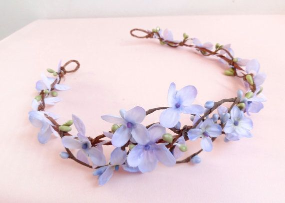 lilac flower crown lavender floral crown pastel by thehoneycomb ... 73b80116fc5