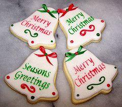 Christmas bell cookies | Cute christmas cookies, Christmas cookies, Christmas sugar cookies