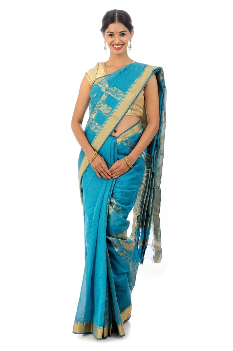 This natural fiber saree's are very well recognized and wanted all over Having properties similar to that of fabric from natural fibers, it gives the feel texture of cotton which is very smooth and immensely serves a convenient feeling to wear them anywhere.