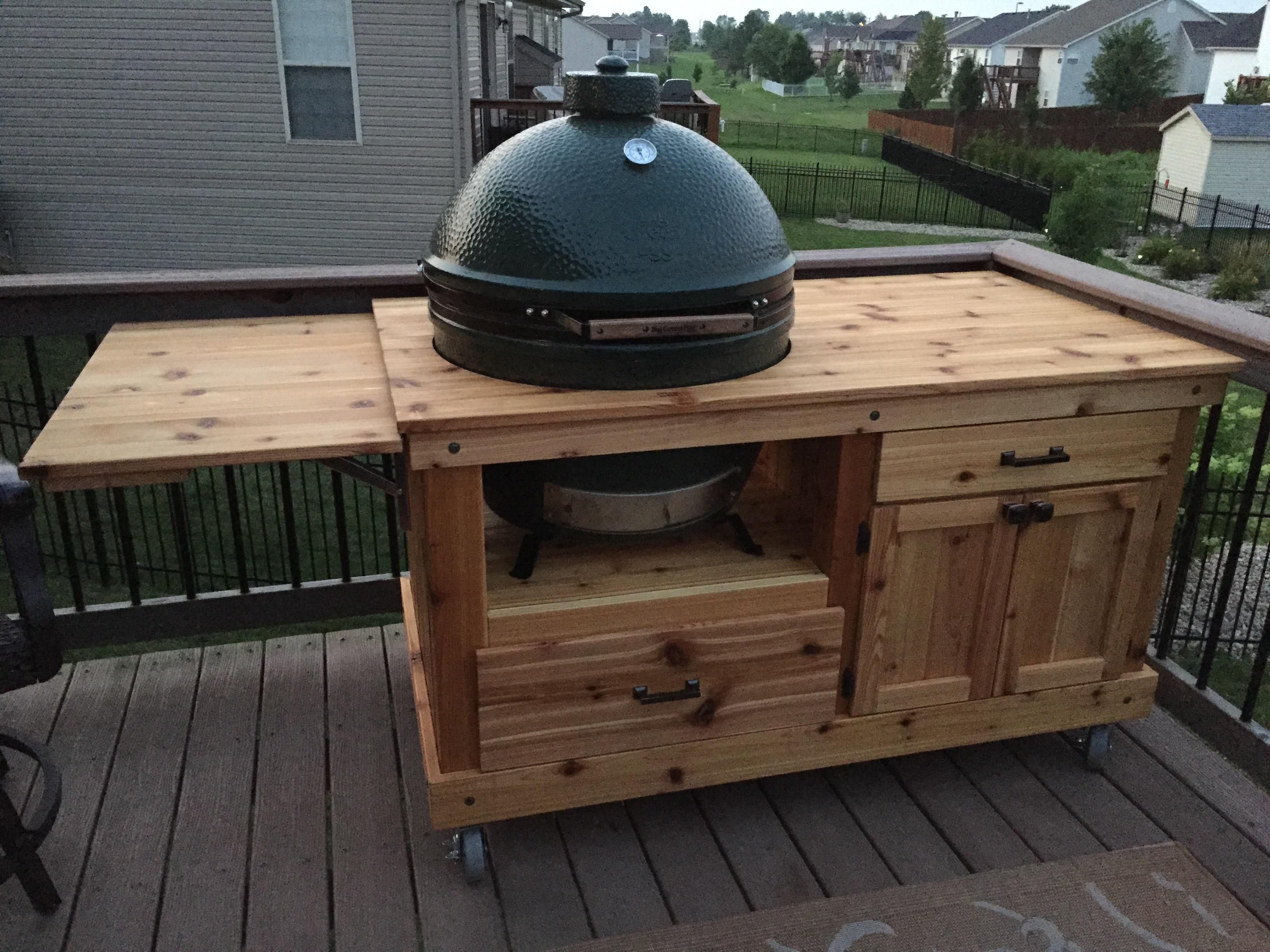 My Latest XL BGE Table (the Iu0027ve Built)   Big Green Egg   EGGhead Forum    The Ultimate Cooking Experience.