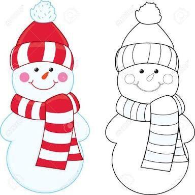 32+ Muneco de nieve para colorear trends