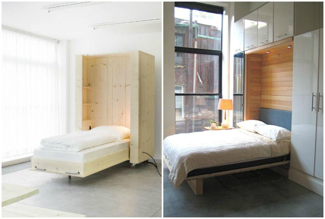 03 camas ocultas en armario abatible muebles que ahorran - Cama escondida en mueble ...