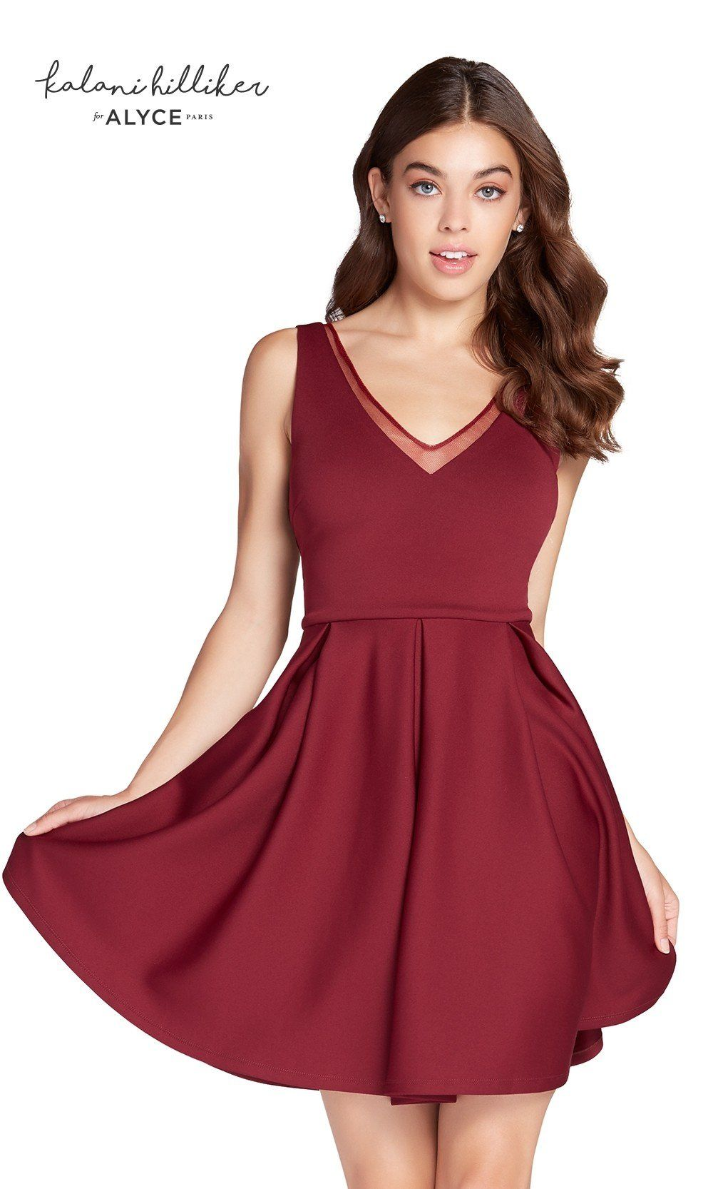 Short V-Neck Dress
