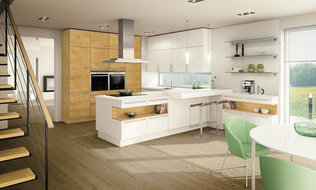 Küche Weiß Mit Holz moderne küchen ewe gerade linien persönlicher stil und