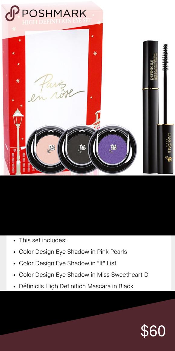 ⚡️Sale 4pc Lancôme high definition eye makeup set Awesome