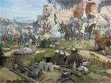 Caida de Constantinople-En la mañana de Mayo 29, 1453 el sultan llama a rezar a los suyos como tactica para aterrorizar a las tropas bizantinas. Al verlos a todos de rodillas orando, los bizantinos sabian que la unidad de la armada Otomana era invencible.
