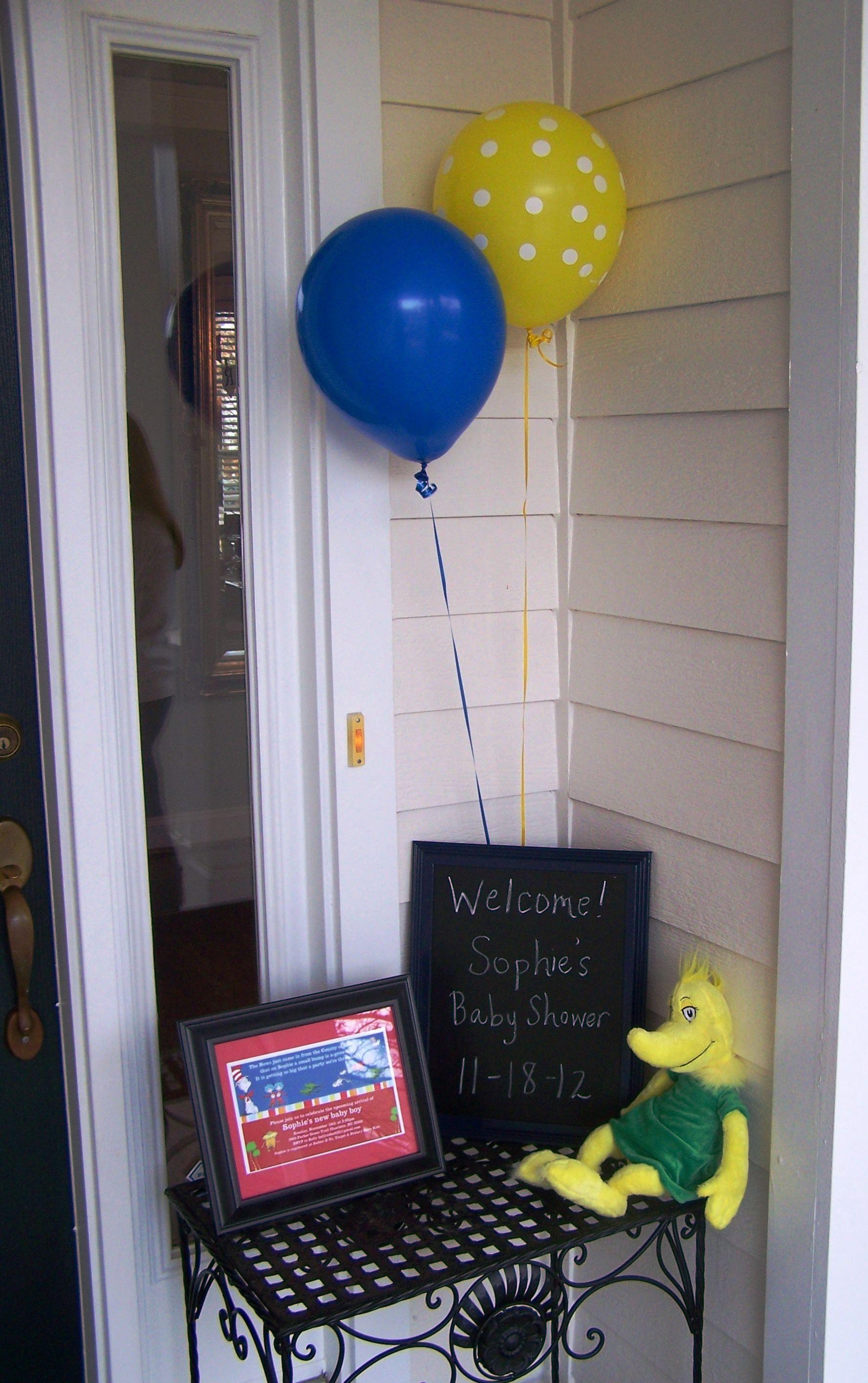 Dr Seuss Baby Shower Front Door Decoration