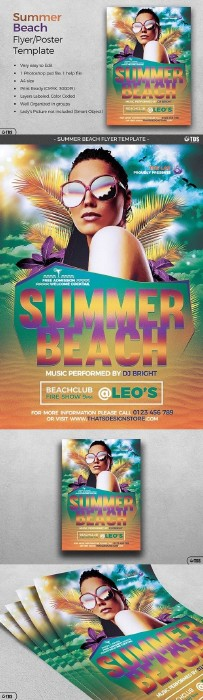 Summer Beach Flyer Template 1360769 | Psd Исходники | Pinterest