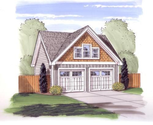 24 x 24 x 9 2Car Garage with Dormer at Menards – Garage Plans Menards
