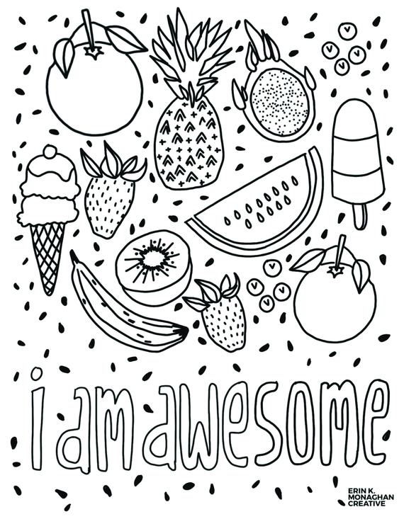I Am Awesome Coloring Sheet Growth Mindset For Kids Etsy Cool Coloring  Pages, Coloring Pages For Kids, Coloring Books