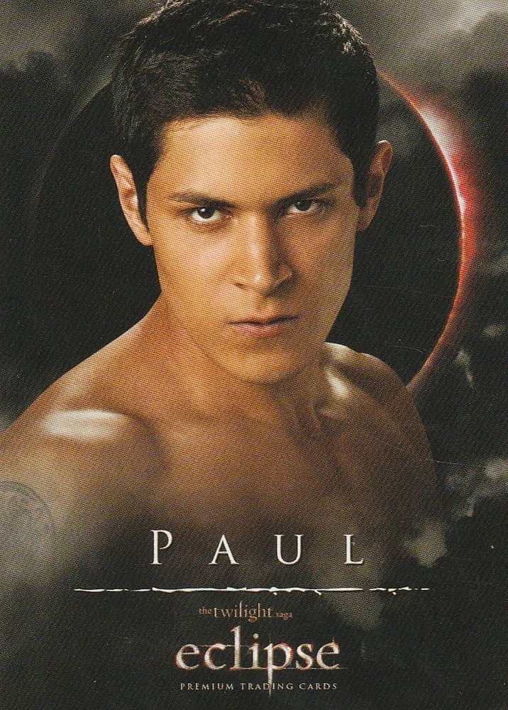 Twilight saga Eclipse trading card Paul, 19