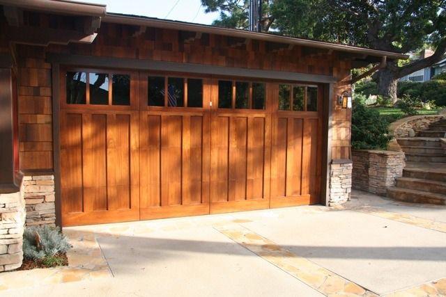 Craftsman Stained Garage Door Http Craftsmanremodel Com Photofinish Exterior Files Craftsman Garage Doo Garage Doors Garage Door Design Craftsman Garage Door
