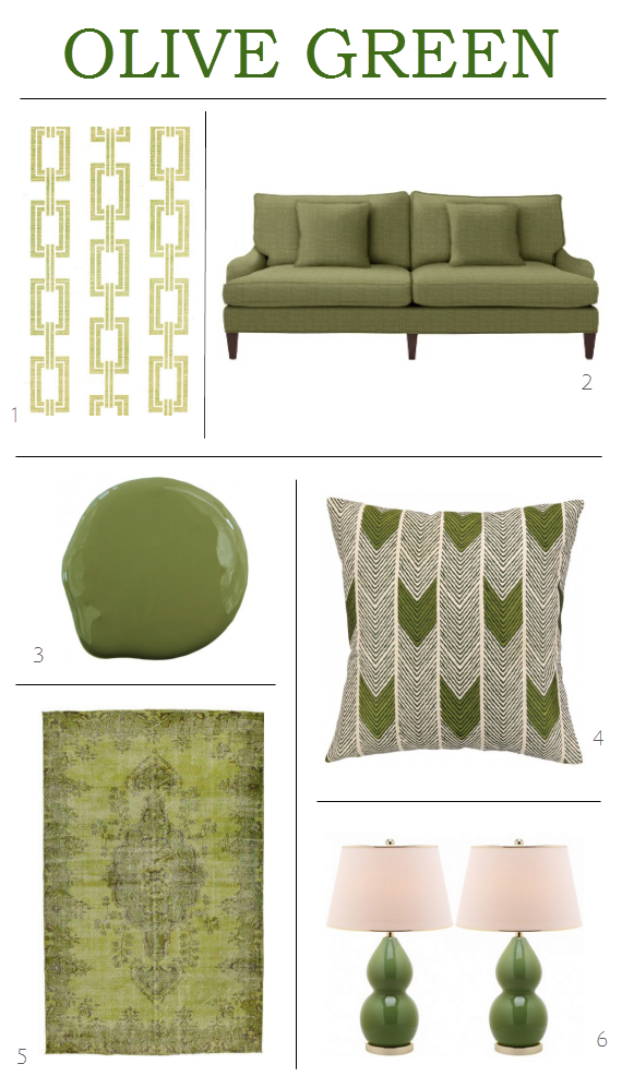 Olive Green Decor Is Trending Alone The Warm Can Be Ho Hum