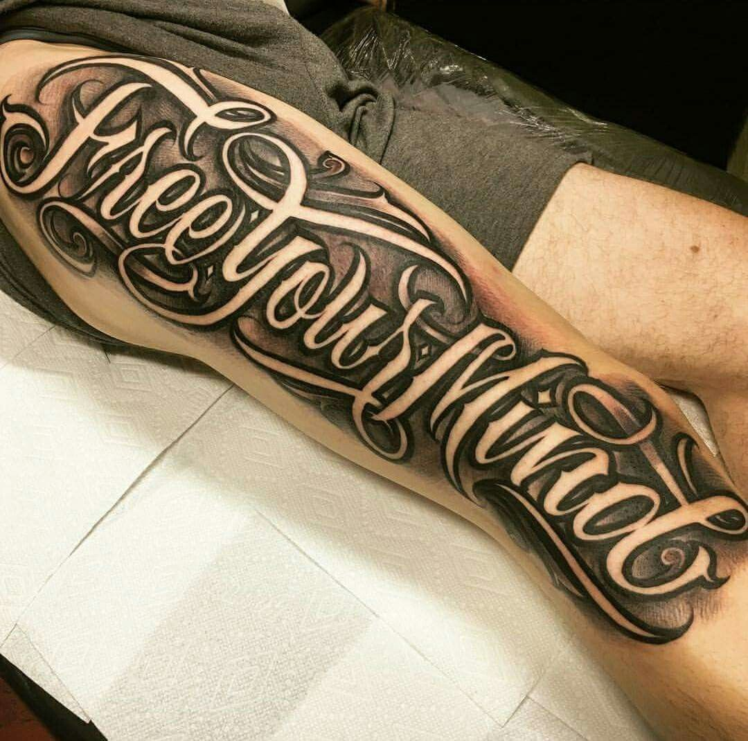Chicano Forearm Lettering Tattoos In 2020 Tattoo Lettering Styles Tattoo Lettering Design Tattoo Lettering