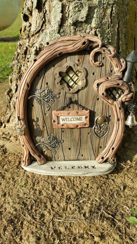 Elfes de hobbit f e porte personnalis 977 gnome jardin for Porte hobbit