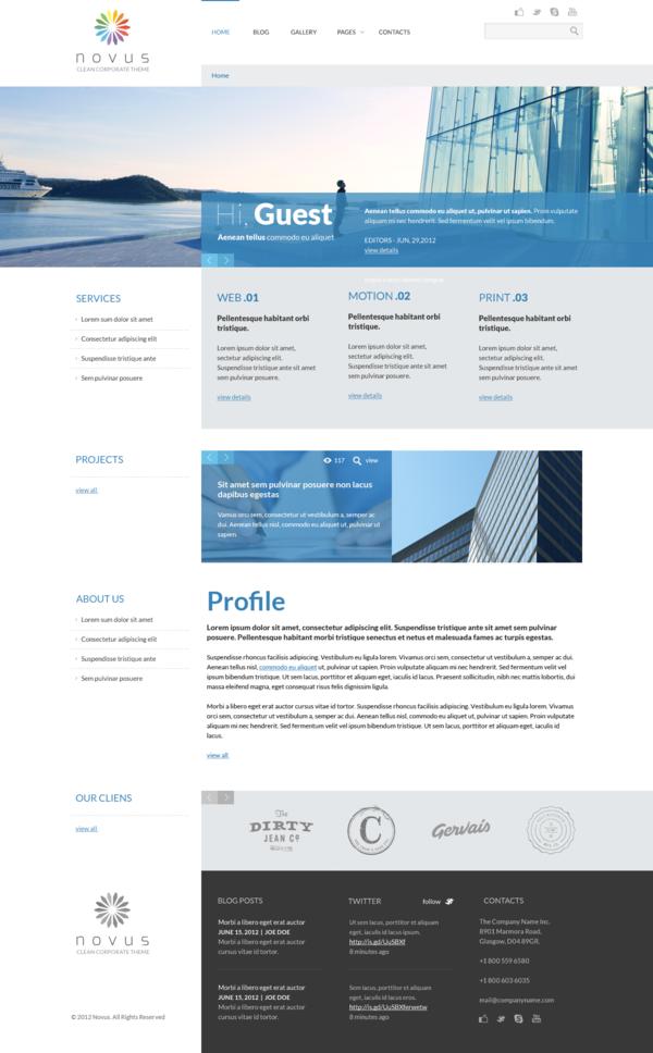 NOVUS PSD Template by Dan Ambrosevich, via Behance | Web Design ...