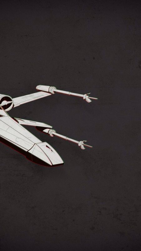 Star Wars X,Wing fighter iPhone 5 wallpaper
