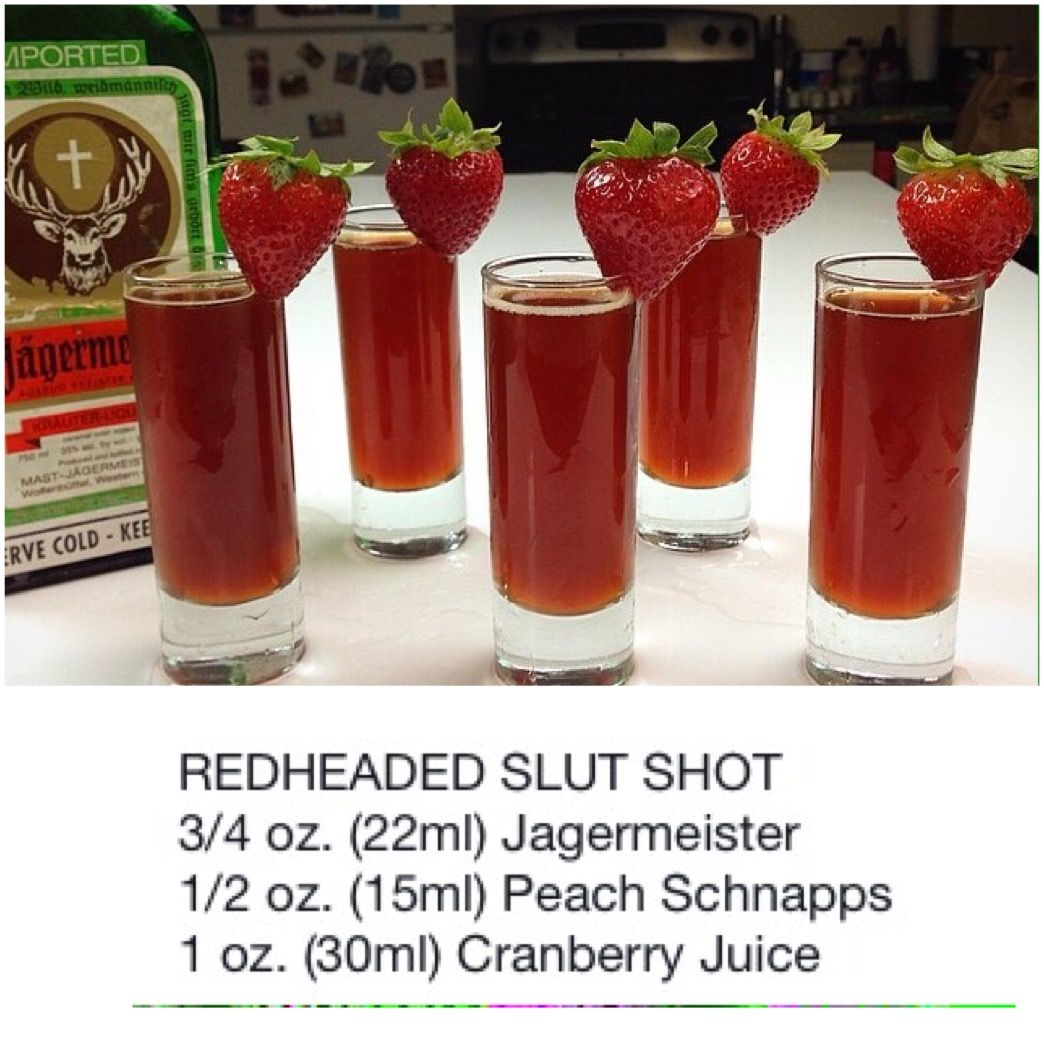 Red Headed Slut Shot Party Drinks Cocktail Drinks Cocktails Cocktail Recipes Fun