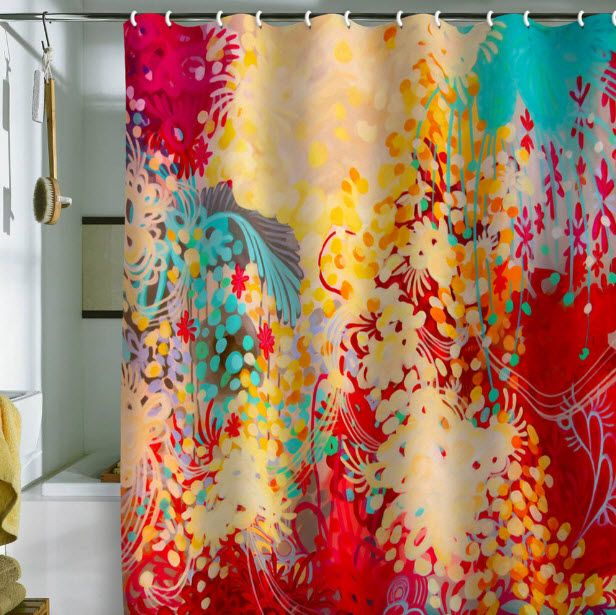 Bright Shower Curtains 5 Colorful Shower Curtain Red Shower