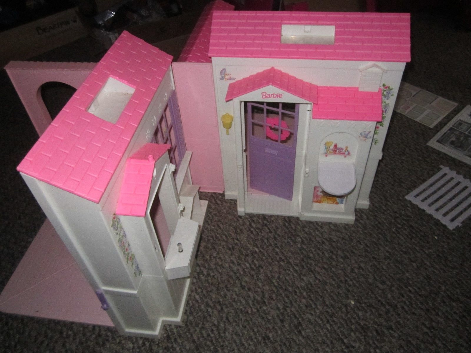 1996 Barbie Folding Pretty Doll House Original