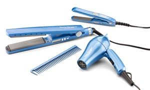 Babyliss Flat Iron And Hair Dryer Travel Pack 5 Piece With