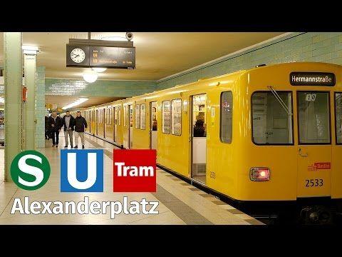 Berlin Alexanderplatz S Bahn Underground Tram At Night Youtube Berlin Underground Night