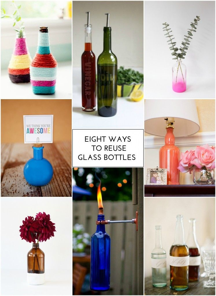 8 Ways To Reuse Glass Bottles The Crafted Life Diy Bottle