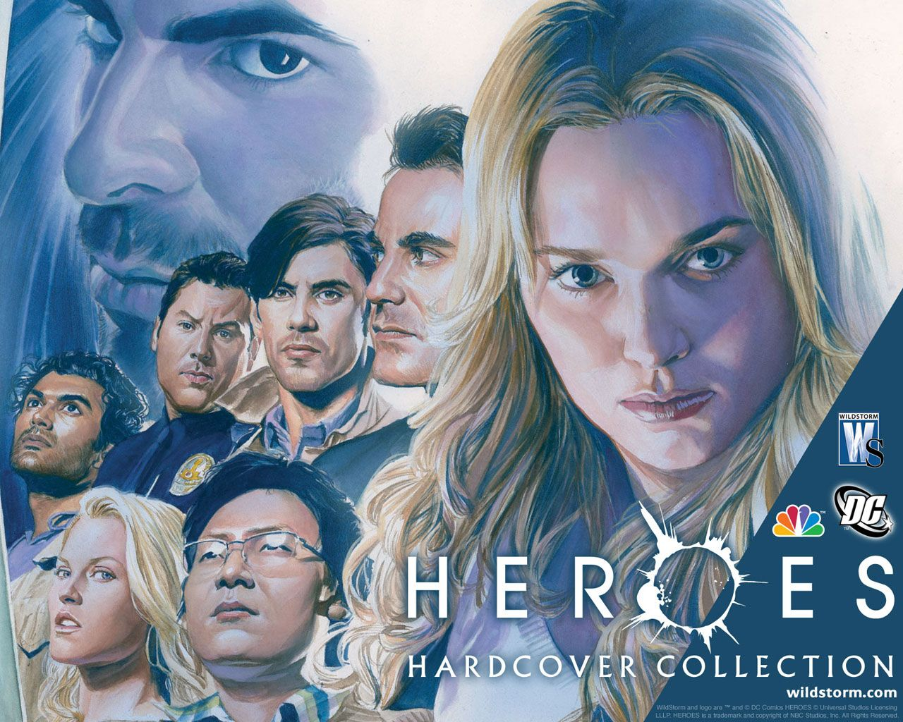 heroes - in the background, sylar, then clockwise from left