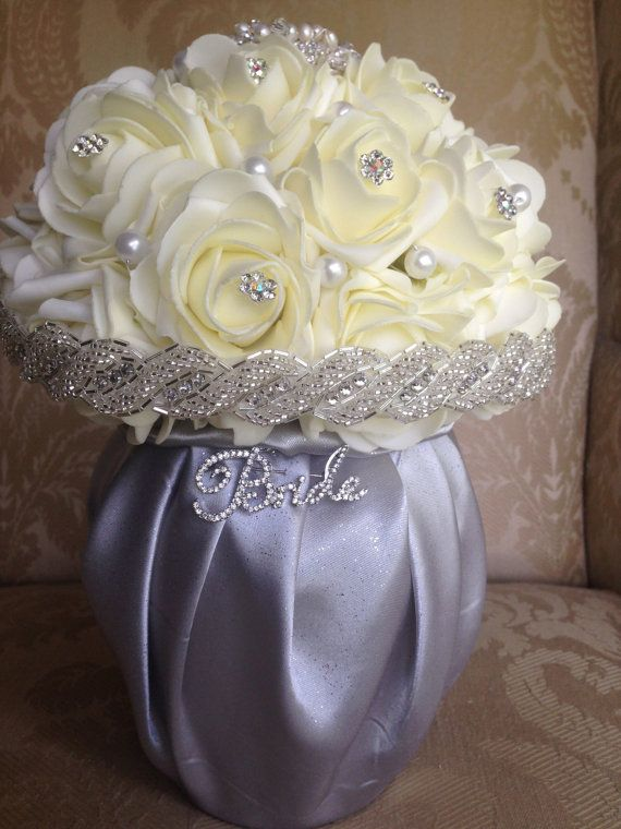 brooch bouquet display stand bouquet display by TheCrystalFlower ...