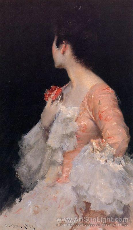 Portrait of a Lady, 1890 - Artist: Chase, William Merritt (American 1849-1916)