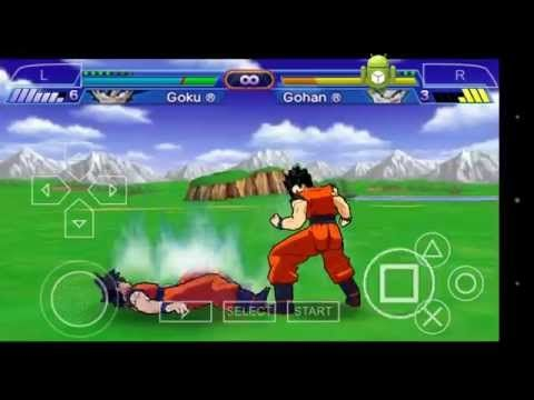 Dragon ball Z Shin Budokai Android PSP emulador - YouTube