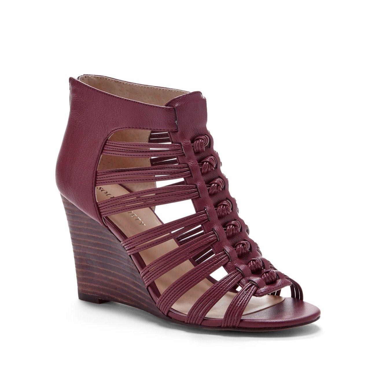 5a0e61ed2f7d Oxblood wedge sandals