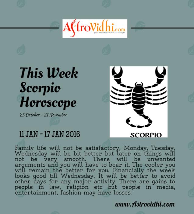 scorpio weekly horoscope january 17