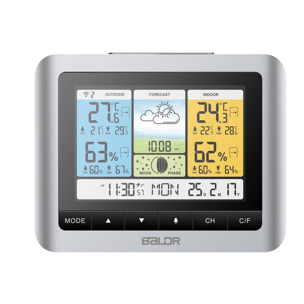 Thermomètre sans fil numérique Horloge Weather Home Indoor Outdoor Temperat