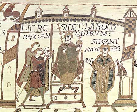 "The Bayeux Tapestry ""Coronation of Harold"" (unknown)   ca:~1070"