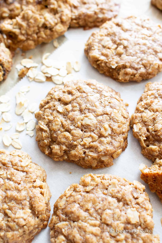 Simple Easy Vegan Oatmeal Cookies In 2020 Vegan Oatmeal Cookies Healthy Oatmeal Cookies Oat Cookie Recipe