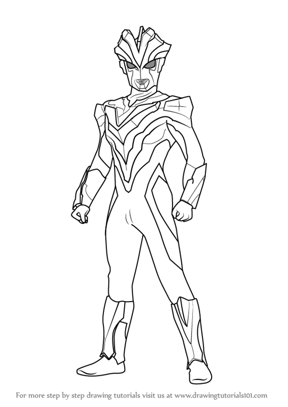 Learn How To Draw Ultraman Victory Ultraman Step By Step Drawing Tutorials Coloring Pages Coloring Pages For Kids Drawings