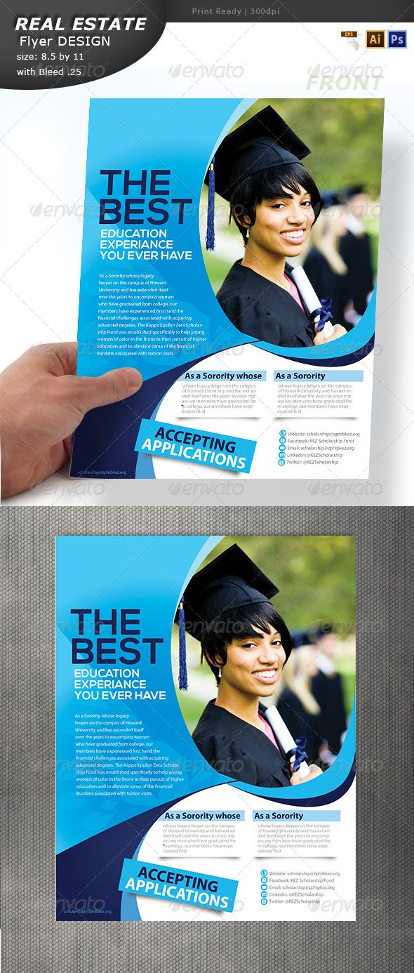 Education Flyer Design  Flyer Printing Print Templates And Template
