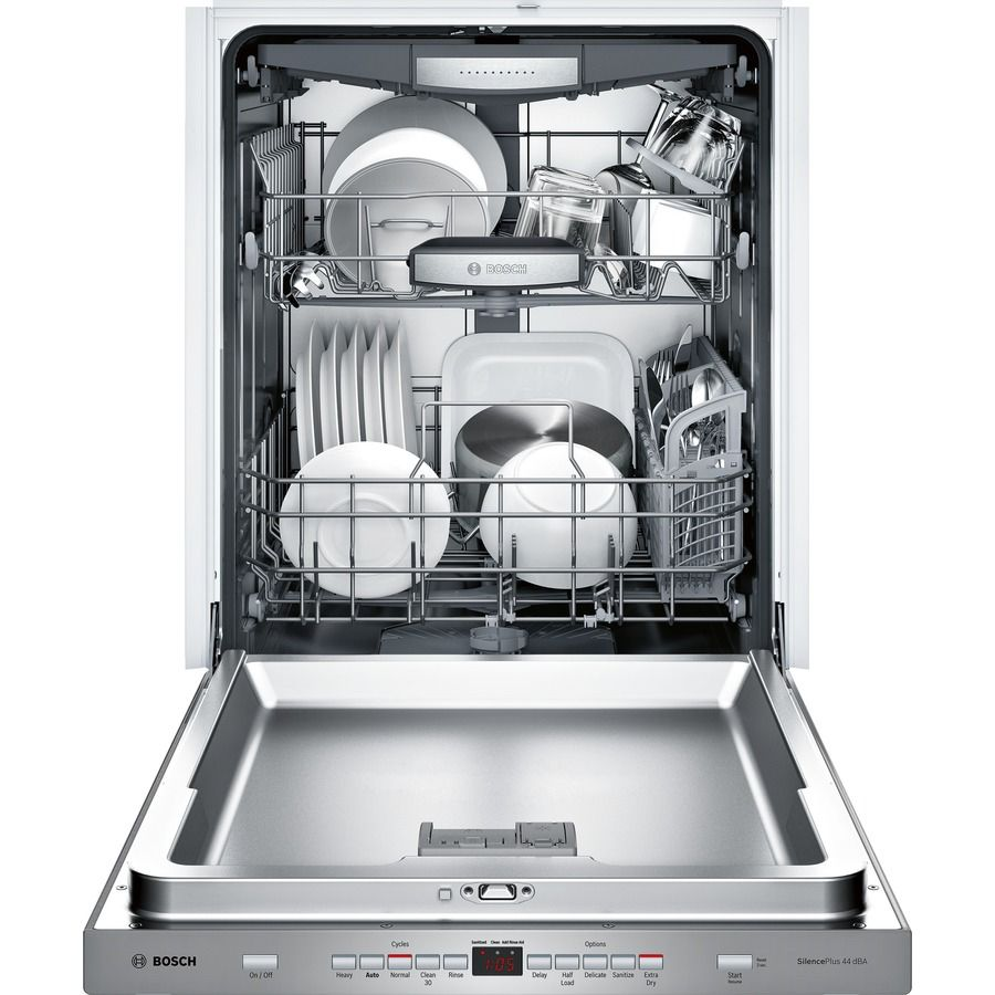 Bosch 500 44 Decibel Top Control 24 In Built In Dishwasher Stainless Steel Energy Star Lowes Com Built In Dishwasher Integrated Dishwasher Best Dishwasher
