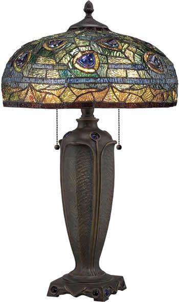 Quoizel Tf1487t Pea Tiffany Style Lamp Collections