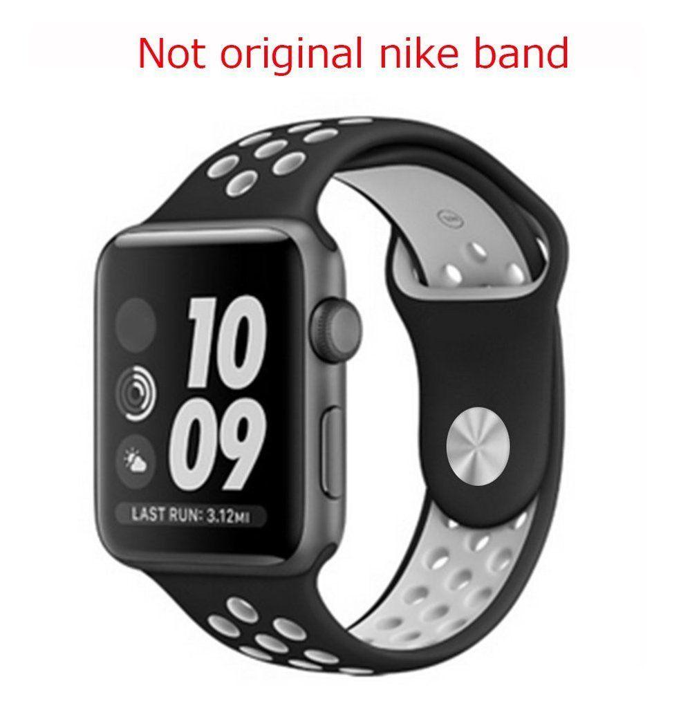 Apple Watch Sport Band Nike Sport Band Nike 38mm Black White Apple Watch Nike Apple Watch Bands Sports Apple Watch