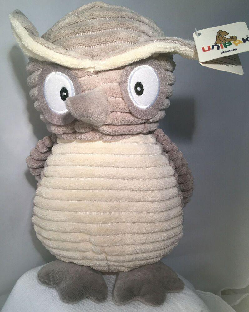 Teddy Bear Stuffed Toy, Unipak Kordy Jr Owl 12 Grey Cream Plush Stuff Animal Chenille Corduroy Nwt Unipak Animals Wolf Plush Plush Stuffed Animals