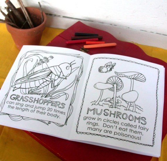 Printable Nature Walk Coloring Book | The great outdoors | Pinterest ...
