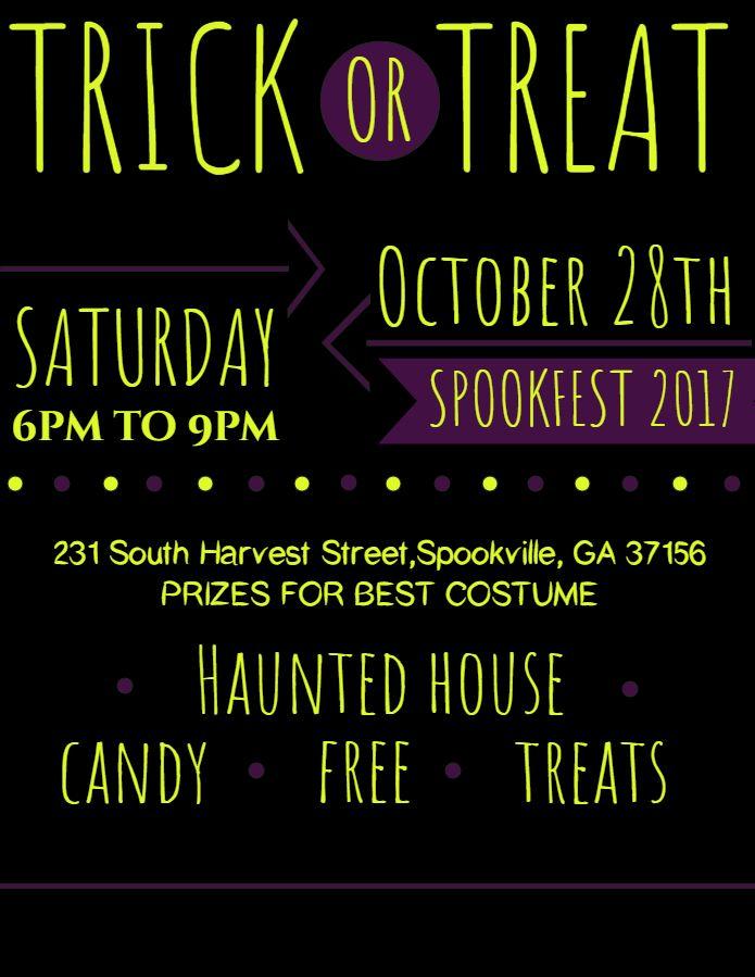 bar halloween party announcement flyer design template halloween