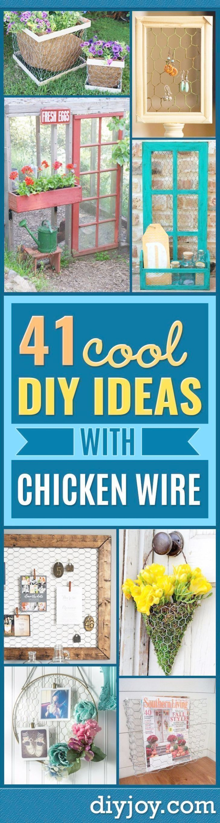 Best Diy Ideas With Chicken Wire  Rustic Farmhouse Decor