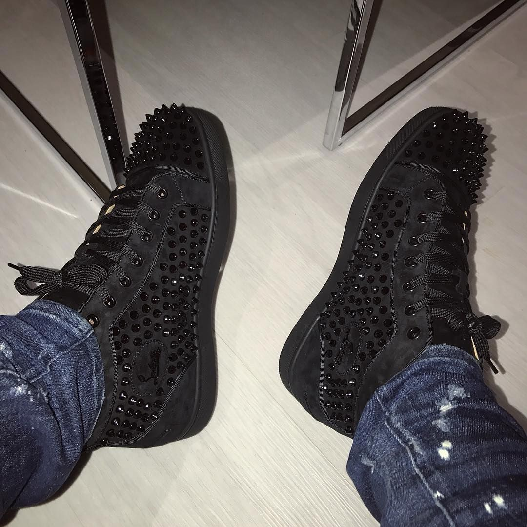 Louboutin Suede Spikes @_undivided